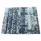 2x2 Hand Knotted Wool and Silk Abstract Square Hi and Low Pile Rug R36247