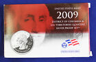 2009 US Mint SILVER Proof Quarters Set of 6 Quarters DOC and US Territories