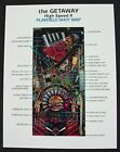 Getaway High Speed 2 Pinball Promo Shot Map Mint
