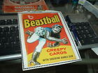 1982 Topps Wacky Packages Cereal Box Panel Beastball with Border RARE!