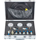 Hydraulic Pressure Test Kit 600Bar Diagnostic 3 Gauge 9 Couplings for Excavator