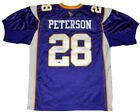 ADRIAN PETERSON AUTOGRAPHED SIGNED MINNESOTA VIKINGS #28 AUTHENTIC REEBOK JERSEY