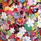 100 pc x Assorted Flower Plant Padded Appliques Felt Satin Velvet Gingham AF1