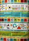 BY 1 2 YD LITTLE GENIUS NORTHCOTT FABRIC SCIENCE STRIPE PERIODIC TABLE PHYSICS