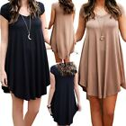 Women Summer Short Mini Dress Casual Short Sleeve Evening Party Cocktail