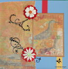 SEWN PREMADE Scrapbook Page 12x12 Layout Any Occasion Vintage shabby MSND Jenn