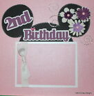 SEWN PREMADE Scrapbook Page 12x12 Layout DISNEY Minnie Mouse 2nd Birthday MSND