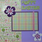 Premade 12 x12 Scrapbook Page SEWN Layout Hoppy Easter MSND Jenn