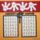 PREMADE Scrapbook Page 12x12 SEWN Layout DISNEY Mickey Minnie Mouse 36 MSND