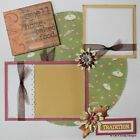 Premade Scrapbooking Page Layout 12x12 Thanksgiving ALL SEWN MSND Jenn