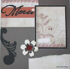 Premade Scrapbook Page 12x12 Layout Vintage Merci Any Occasion SEWN MSND Jenn