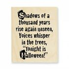 STAMPENDOUS RUBBER STAMPS SHADOWS HALLOWEEN NEW wood STAMP