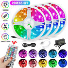 66FT RGB Flexible 5050 SMD LED Strip Light Remote Fairy Lights Room TV Party Bar