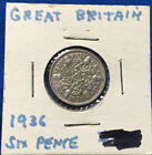 1936 Great Britain Six Pence