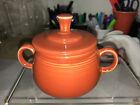 Fiesta COVERED SUGAR BOWL 7 3/4 Oz. new never used -Retired color  PAPRIKA