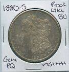 1880-S Morgan Dollar US Mint BU Unc PL MS++++++ AWESOME COLOR TONED