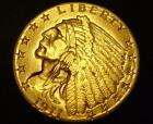1911 $2 1/2 Indian Head Gold Coin Quarter Eagle BU MS!