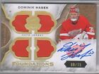 15-16 UD THE CUP Foundations Quad Jersey Autograph Dominik Hasek 08 15