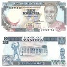 ZAMBIA 10 Kwacha Banknote World Paper Money UNC Currency Pick p-31b EAGLE sign 9