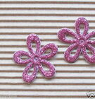 50 x 1 HPink Shiny Felt Spring Flower Padded Appliques for Hair Bow Card ST35H