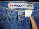 MENS VTG 80S ANCHOR BLUE BAGGY JEANS 27X28 THICK DENIM
