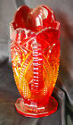 Indiana Ruby Red  Amberina Carnival Glass Heirloom Octagon Small Pitcher