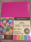 Recollections BRIGHTS Cardstock Paper 85 x 11 50 sheets