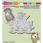 HOUSE MOUSE RUBBER STAMPS CLING PINCUSHION NEW cling STAMP