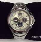 SEIKO Men's New COUTURA Series Stainless Steel Solar Chronograph WATCH SSC627