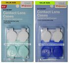 1 x 2pc CONTACT LENS CASES For Soft or Hard Lenses WASHABLE Plastic YOU CHOOSE