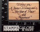 STAMPENDOUS USED RUBBER STAMPS M11 CHRISTMAS WISH NEW YEAR PEACE HAPPINESS