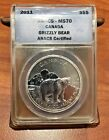 2011 ANACS-MS70 CANADA GRIZZLY BEAR ANACS CERTIFIED S$5