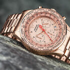 DETOMASO FIRENZE Mens Watch Chronograph Rosegold Plated Stainless Steel New