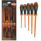 Bahco 820VDE-5 VDE Insulated Screwdrivers Pozidrive and Slotted Set of 5 NEW