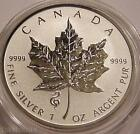 2013 *SNAKE PRIVY* CANADA MAPLE LEAF 1 oz. .9999 SILVER REVERSE PROOF $5 COIN