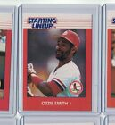 1988 Kenner Starting Lineup SLU Ozzie Smith CARD ONLY St Louis Cardinals