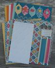 Stampin Up QUATREFANCY dsp PAPER RIBBON card kit + Embossed Punches Bling+