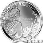 BRITANNIA RULES THE WAVES - 2017 Falkland Islands 1 oz Silver Reverse Proof Coin