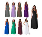 Formal Dress Bridesmaid Wedding Party V Neck Full Length Long Evening Gown