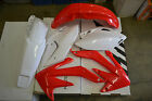 RACE TECH PLASTIC KIT HONDA CRF450X  2005-2007 SHROUDS  FENDERS PLATES RED/WHITE