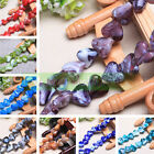 10 20pcs 18x15mm Charm Heart Lampwork Glass Loose Spacer Beads Jewelry Making
