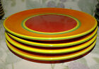 DANSK CARIBE ARUBA ORANGE DINNER PLATES 4   EUC