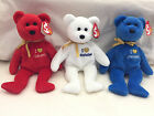 I Love / heart Alabama Mississippi Louisiana Exclusive TY Beanie Babies  w/ tags