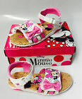 Disney Minnie Mouse Toddler Girls Sandals Light Up Pink Bow Size 10