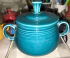 Fiesta COVERED SUGAR BOWL 7 3/4 Oz. new never used -Retired color  JUNIPER