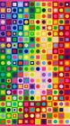 COLORWORKS NORTHCOTT FABRIC PANEL CIRCLES IN SQUARES RAINBOW CHEATER CLOTH 20794