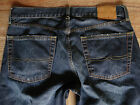 LUCKY BRAND 361 VINTAGE STRAIGHT ZIP FLY MENS DARK BLUE COTTON JEANS 33X32