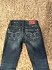 24R BIG STAR Vintage Collection NICO STRAIGHT LEG Distressed Low Rise Stretch