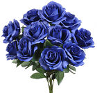 12 Open Roses MANY COLORS Bouquets Centerpieces Bride Silk Wedding Flowers