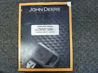 John Deere 710K Backhoe Loader Owner Operator Maintenance Manual OMT304357